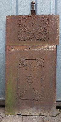 alte Ofenplatte Gusseisen Nr. 3029/12 großes Element - Elemente Große Platte