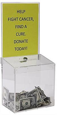 Clear Acrylic Suggestion Box With 9w X 11h Sign Display And Lock