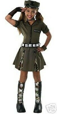 Dlx  Major Flirt Army Glamour Diva Costume Dress-up Girls NWT S M L](Army Dress Up Costume)