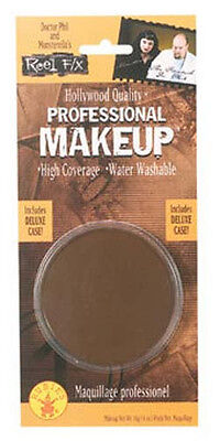 Reel F/X Professional Face Base Makeup BROWN costume theater halloween werewolf