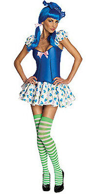 Sexy Secret Wishes Womens BLUEBERRY MUFFIN COSTUME dress stockings hat S 2-6