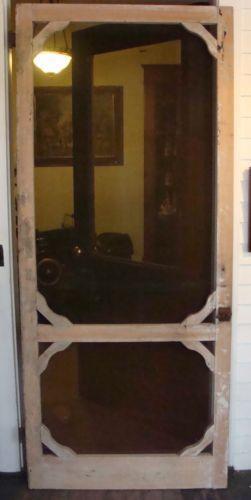 Wood Screen Enclosures : Antique screen door ebay