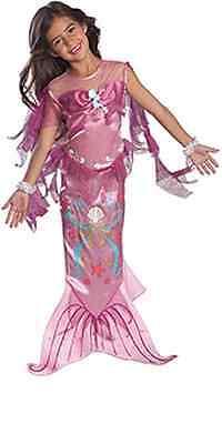 Disney Ariel Mermaid Costume (Precious Pink Mermaid Ariel Disney Princess Dress-up Girl Costume, Rubies)
