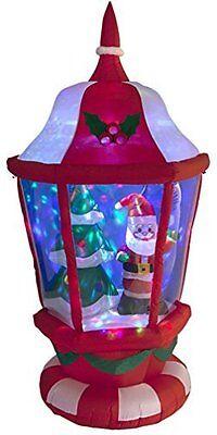 en Laterne mit Weihnachtsmann Baum & Diskokugel Garten (Aufblasbarer Weihnachtsbaum)