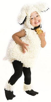 Kids White Lamb Jumpsuit Fuzzy Halloween - Kids Lamb Costume