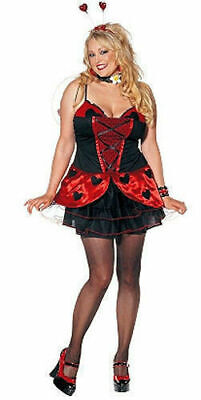 NEW Shirley of Hollywood 7674X PLUS SIZE Love lady Bug Costume 1X/2X Cosplay USA (Hollywood Usa Kostüme)