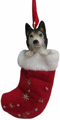 Siberian Husky Christmas Stocking Ornament w