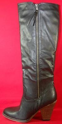 (Women's MIA VAGABONDD Black Fashion Casual/Dress Zip Up Knee High Boots NEW)