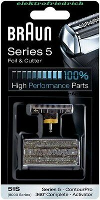 BRAUN Kombipack 51S  8000 Serie 5 NEU&OVP Scherblatt / Folie und Messerblock  - Serie 8000 Folie