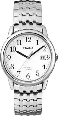 Timex T2P294, Men's Silver-Tone Expansion Watch, Indiglo, Day/Date