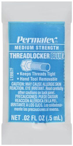 Permatex 19967 Medium Strength Threadlocker Blue, 0.5 ml Pipette