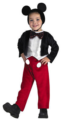 Disneys Mickey Mouse Dlx Costume Child Small 4-6 SMALL (Mickey Mouse Kids Costumes)