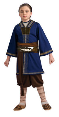 Deluxe SOKKA Costume The Last Airbender Child Large 10 12 Boys Halloween Outfit  (Airbender Halloween Costume)