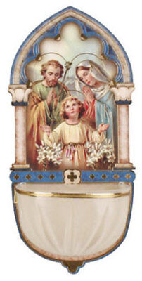 HOLY FAMILY MARY JOSEPH BABY JESUS - WATER FONT CANDLES STATUES PICTURES LISTED