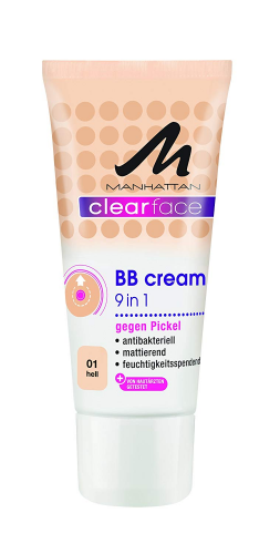 Manhattan Clearface 9 in 1 BB Cream 01 , 1er Pack (1 x 25 ml)