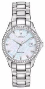 Brand New Citizen ECO-DRIVE SILHOUETTE CRYSTAL FE1140-86D