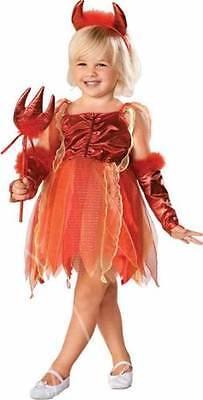 Kleinkind & Ältere Mädchen 4 PC Teufel Halloween Kostüm Kleid Outfit 1-7 Jahre