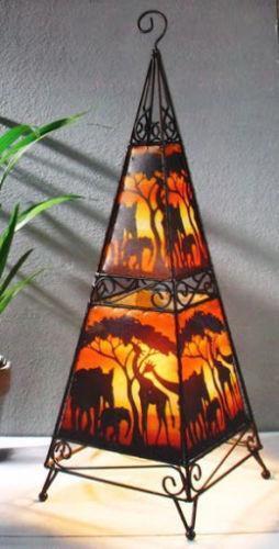 stehlampe afrika beleuchtung ebay. Black Bedroom Furniture Sets. Home Design Ideas