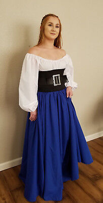 Renaissance Full Length Skirt Medieval Civil War Re Enactment Pirate Wench Gypsy