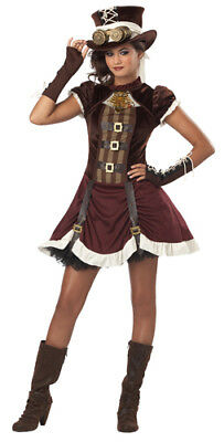 Gothic Steampunk Girl Tween Halloween Costume - Goth Girl Halloween Costumes