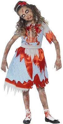 Girls Dead Zombie Country Girl Halloween Fancy Dress Costume Outfit 4-9 Years - Country Girl Halloween Outfits