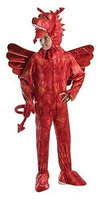 KIDS RED DRAGON DINOSAUR FANCY DRESS COSTUME SIZES 5/10 YEARS BOOK WEEK - Red Dinosaur Costume