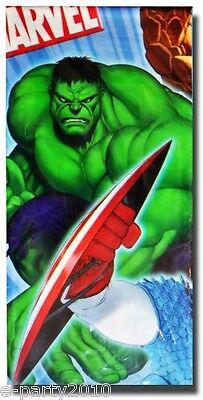 MARVEL HEROES PLASTIC TABLE COVER ~ Birthday Party Supplies Decoration Comic