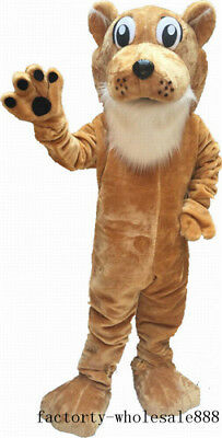 Halloween Deluxe Corby Cougar Mascot Costume suits Fancy dress new Free Shipping