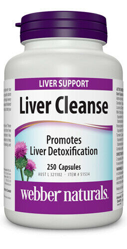Webber Natural Liver Support Cleanse Detox 250 Capsules High