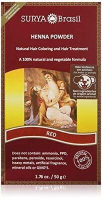 NEW Surya Brasil Products Henna Powder Red Natural Hair Treatment 1.76 Ounce Surya Henna Powder