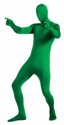 2nd Skin Green Man Zentai Lyrca Bodysuit Adult Halloween Costume M-XL 880511