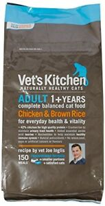 Vets Kitchen Cat Food Chicken  Brown Rice Complete Adult