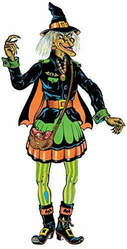 """Beistle 00455 Vintage Halloween Jointed Witch, 57"""", Multicolored"""