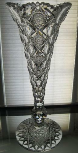 Antique Crystal Vase Ebay