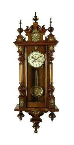 Antique Wood Wall Clock Ebay