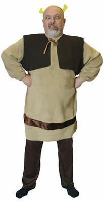 Fairytale-Musical-Fancy Dress-Character Grün Ungeheuer Herren Kostüm - Großbritannien Fancy Dress Kostüm