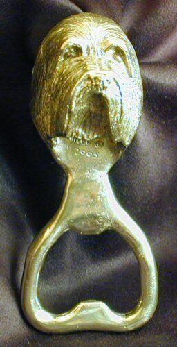 BEARDED COLLIE, BEARDIE Bottle Opener in Bronze