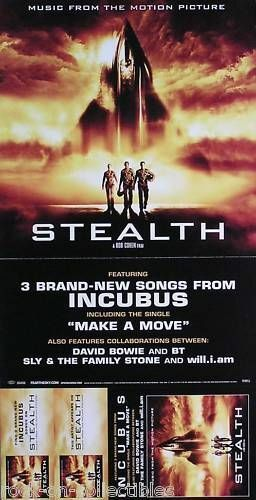 Incubus 2005 Stealth Movie Soundtrack Original Promo Poster