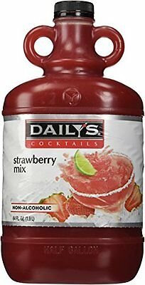 New Dailys 64 Oz. Strawberry Daiquiri Margarita Mix Free Shipping