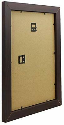 Mahogany Dark Brown Finish Ready Made Picture Frame, A4 Certificate Size, 21 x 2 Dark Mahogany Finish Frame