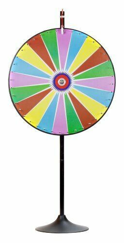 """36"""" Color Dry Erase Prize Wheel with Extending Base Stand"""