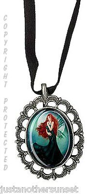 Pewter Cameo Necklace Wind Song Fairy Faery Pamela Delli Colli Fantasy Art New