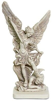 Archangel Michael Slaying the Devil Statue Christian Angel Figurine SMALL Size