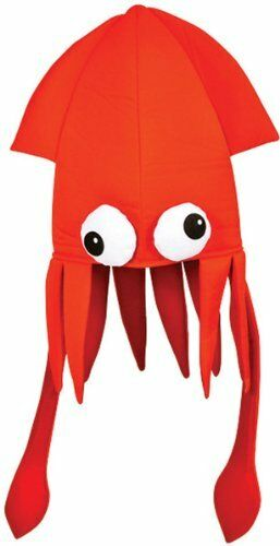 Black-Squid-Octopus-Novelty-Halloween-Hat-Adult-Fun-Silly-Hat-Cap-Brand-New