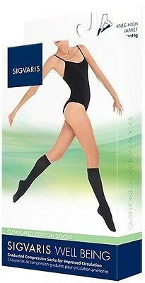 Sigvaris 142c Cushioned Cotton 15-20 Knee High