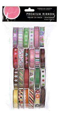 American Crafts Premium Ribbon Seasonal - Value Pack Total of 96-Foot Spool