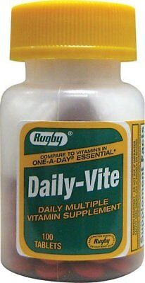 Rugby Daily-Vite Multivitamin Supplement Overall Health 100 Tablets (Pack of (Vite Supplement)