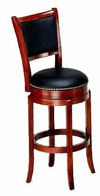 Soft Leather Swivel Bar Stool With Backrest 29