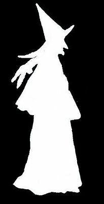 Witch Crafts For Halloween (Halloween Walking Witch Stencil for Crafts Signs)