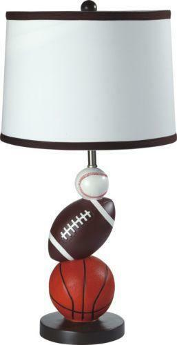 Boys sports lamps ebay for Table decor international inc